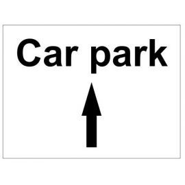 Car park up arrow sign in a variety of sizes and materials