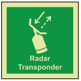 Radar transponder photoluminescent 100W  x  110H  sign rigid plastic