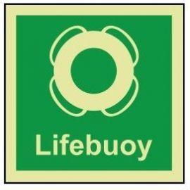 Lifebuoy photoluminescent 100W  x  110H sign self adhesive