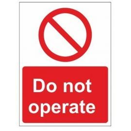 Do not operate sign in a variety of sizes and materials