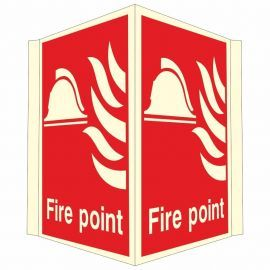 Fire Point Projecting Sign - 400W x 300H