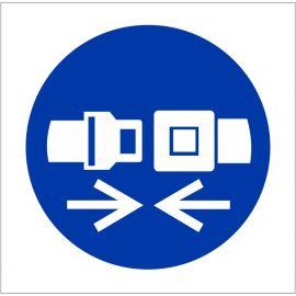 Seat Belt Single Sided Sign