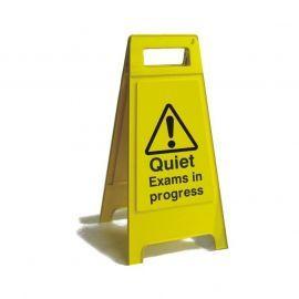 Quiet Exams In Progress Freestanding Sign - 600mm