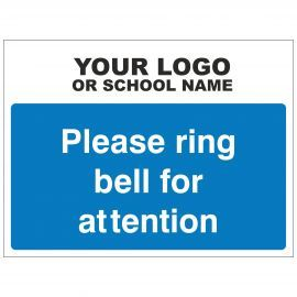 Please Ring Bell For Attention Sign - Composite Board