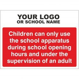 Apparatus Can Only Be Used During School Opening Times Sign - Composite Board