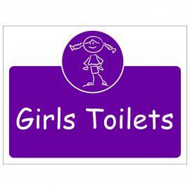 Girls Toilets Door Sign