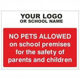 No Pets Allowed Sign - Composite Board