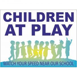 Children At Play Sign - Composite Board