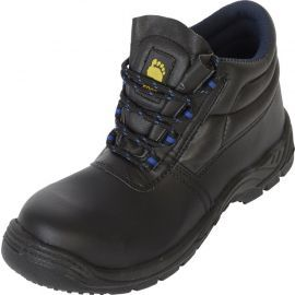 Black Smooth Leather Upper Boot