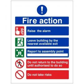 Raise The Alarm Fire Action Notice Sign