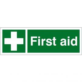 First Aid Sign 600mm x 200mm - Rigid Plastic