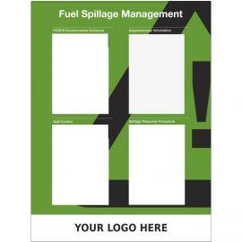 Custom Fuel Spillage Management Sign  900mm x 1200mm