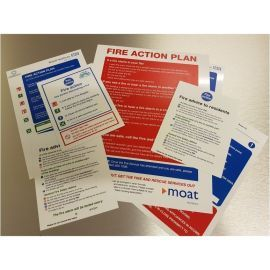 Custom Fire Action Notice Sign or Plan