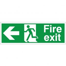 Extra Large Fire Exit Left Sign 900mm x 300mm
