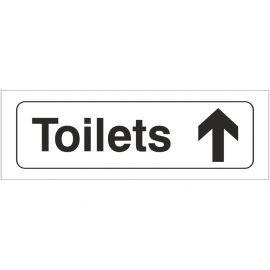 Toilets Straight Ahead Door Sign