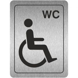 WC Disabled Toilet Aluminium Door Sign