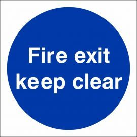 Fire Exit Keep Clear Door Sign