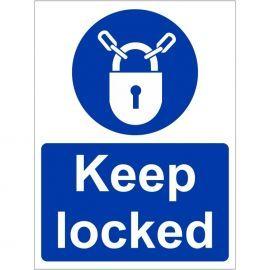 Keep Locked Sign