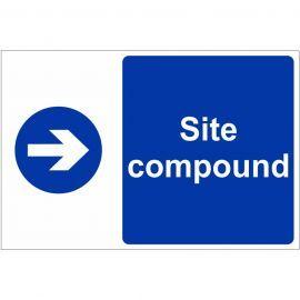 Site Compound Arrow Right Custom Logo Sign