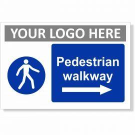 Pedestrian Walkway Arrow Right Sign
