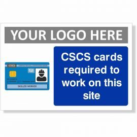 CSCS Cards Required To Work On This Site Sign