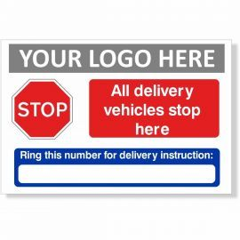 All Delivery Vehicles Stop Here Sign