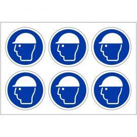 Helmet Protection Labels 100mm in Diameter