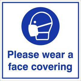 Please Wear A Face Covering Sign - Square