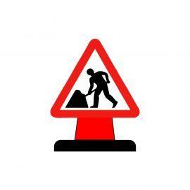 Men At Work Aluminium Composite Cone Sign