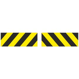 Aluminium composite plate black and yellow striped sign