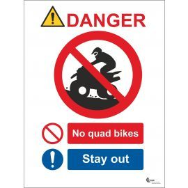 Danger No Quad Bikes Sign - Stay Out