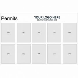 Permits Notice Board (Landscape)