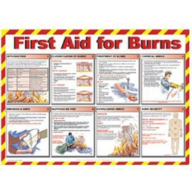 First Aid For Burns Laminated Poster