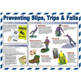 Preventing Slips, Trips & Falls Laminated Poster