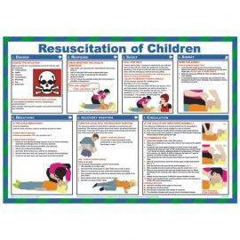Resuscitation Of Children Laminated Poster