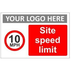Site speed limit sign in a variety of sizes and materials with or without your logo