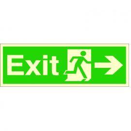 Exit Arrow Right Glow In Dark Sign