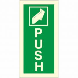 Push Arrow Forward Glow In Dark Sign