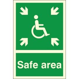 Glow In The Dark Safe Area Sign