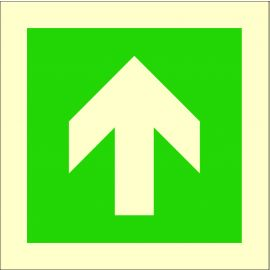 Photoluminescent 'Arrow Up' Self Adhesive Symbol Sign
