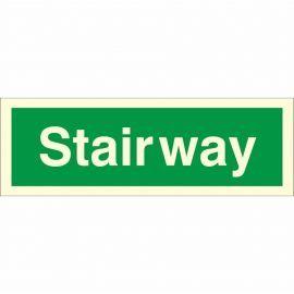 Glow In The Dark Stairway Identification Sign