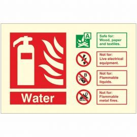 Glow In The Dark Water Fire Extinguisher Identification