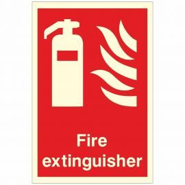 Photoluminescent Fire Extinguisher Sign