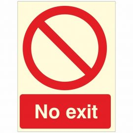 Glow In The Dark No Exit Sign