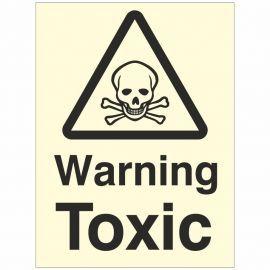 Warning Toxic Sign Glow In Dark
