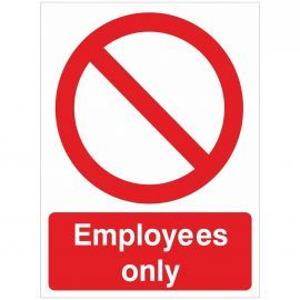 Employees Only Sign - 150w x 200h