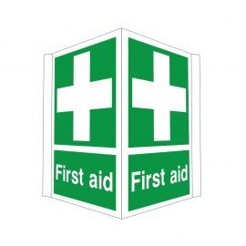 First Aid Projected Sign