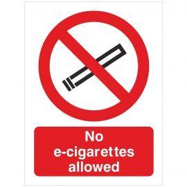No E-Cigarettes Allowed  Sign