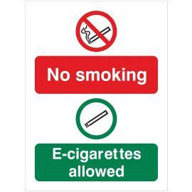 No Smoking E-Cigarettes Allowed sign