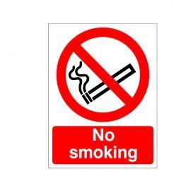No Smoking Reverse Graphic Sign